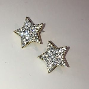 NADRI Crystal Diamond Pave Bold Star Stud Earrings